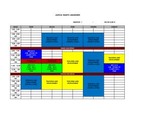 Jadual Sem 1 HAMZAH 20142015